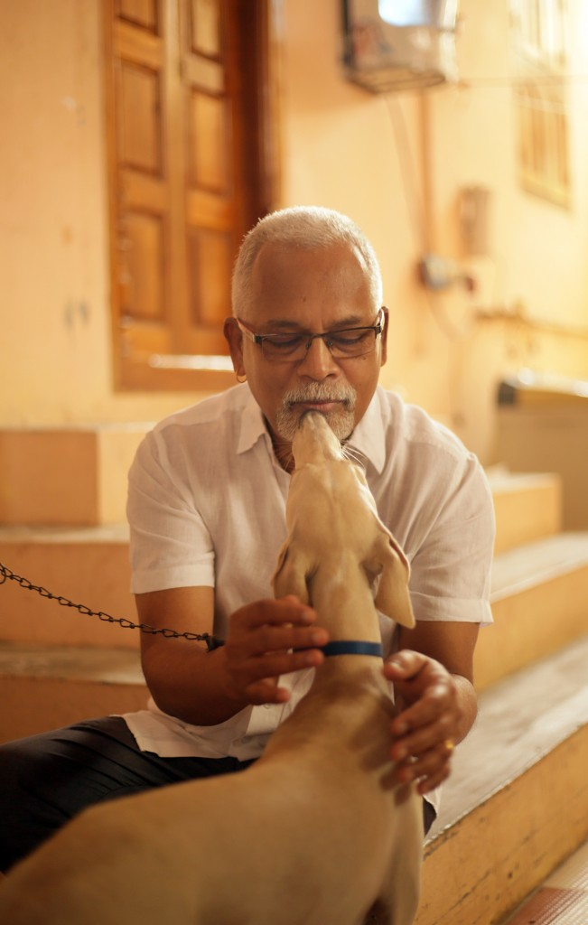 Charu with a pet